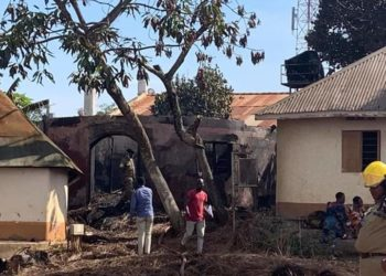 traditional houses at Kasubi fire gutted