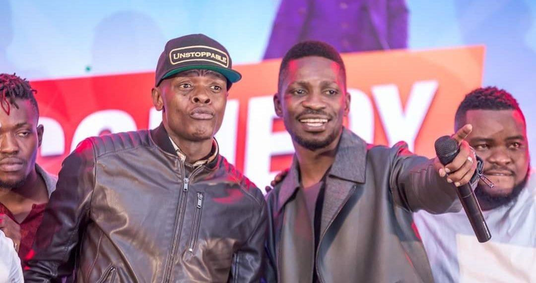 Singer Jose Chameleone and Bobi Wine