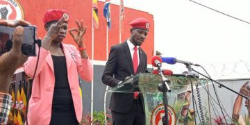 Bobi Wine during the launch of People Power and NUP merger
