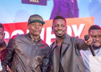 Singer Jose Chameleone and Bobi Wine