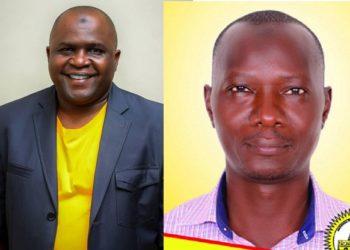 Haji Harunah Ssemakula ku kkono ne Haji Umaru Ddumba ababbinkana ku kifo kya Ssentebe wa NRM e Mukono
