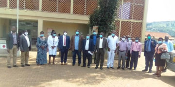 MPs after meeting Kabale Referral Hospital staff