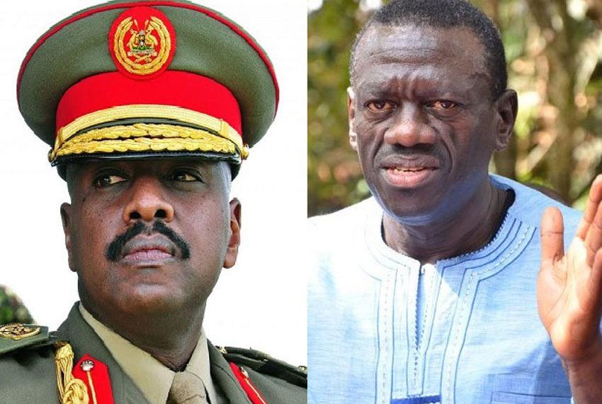 First Son Muhoozi Kainerugaba and Dr Kizza Besigye