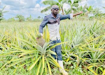 Jimmy Wamala at his farm