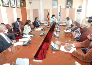 Former RDCs meeting the Speaker of Parliament on Monday