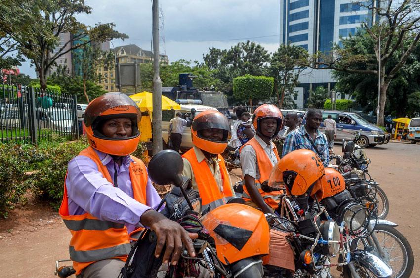 Safeboda riders in Uganda