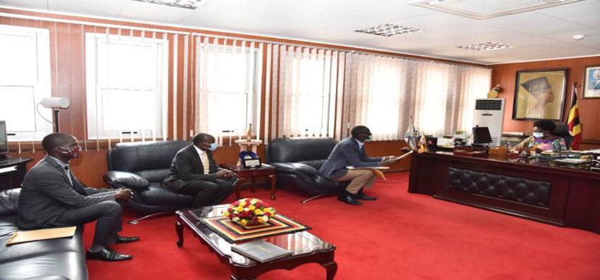 The petitioners meeting Speaker Rebecca Kadaga at Parliament House