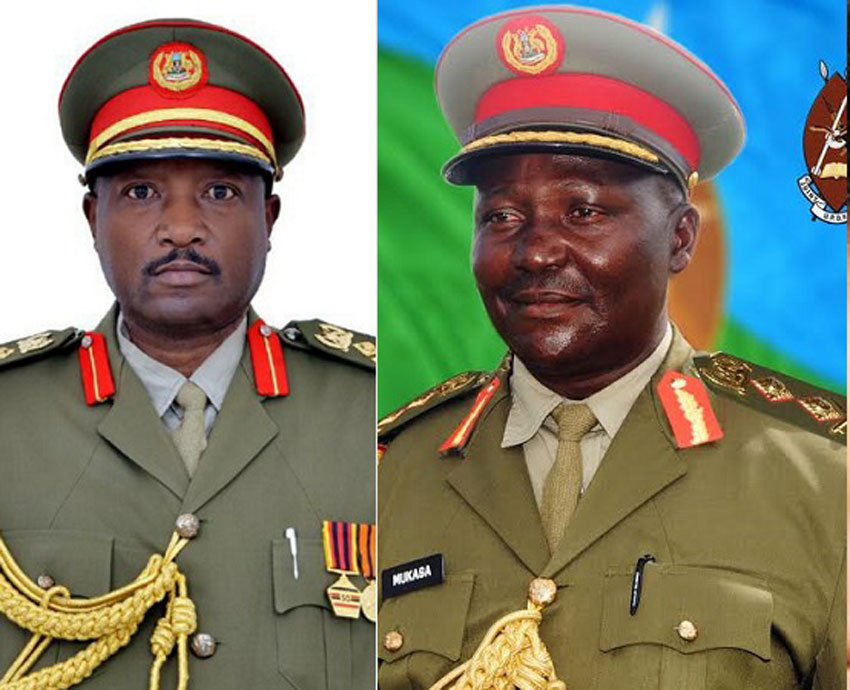 L-R: Brig General Victor Twesigye [late] and Maj General Eric Mukasa [late]