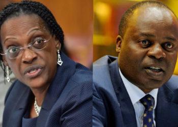 Former Bank of Uganda officials Justine Bagyenda and Dr Louis Kasekende