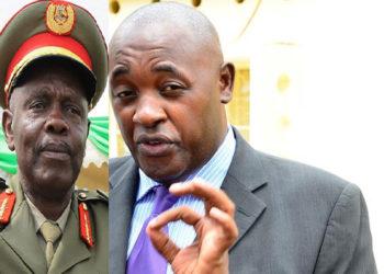 Gen Kyaligonza and Minister Chris Baryomunsi