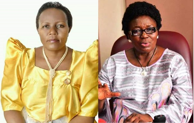 L-R: Deborah Mwesigwa and Speaker Rebecca Kadaga