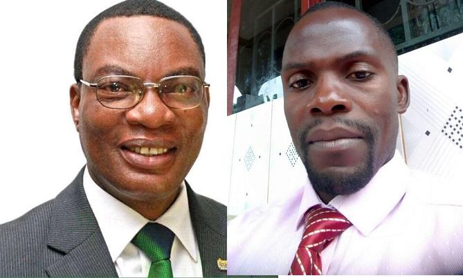 Kagimu ku kkono eyalondeddwa ku bwa Ssentebe bwa DP e Mukono ne Julius Nkangi omumyuka w'omwogezi we kibiina