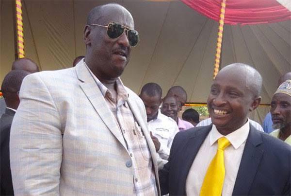 L-R: OWC boss Gen Salim Saleh and businessman Moses Karangwa