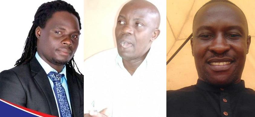 Kimbowa Tonny Ssonko ku kkono, Kakembo Jamir aliko kati wakati ne Kabanda Robert Peter