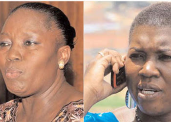 Speaker Rebecca Kadaga and FDC's Salaamu Musumba