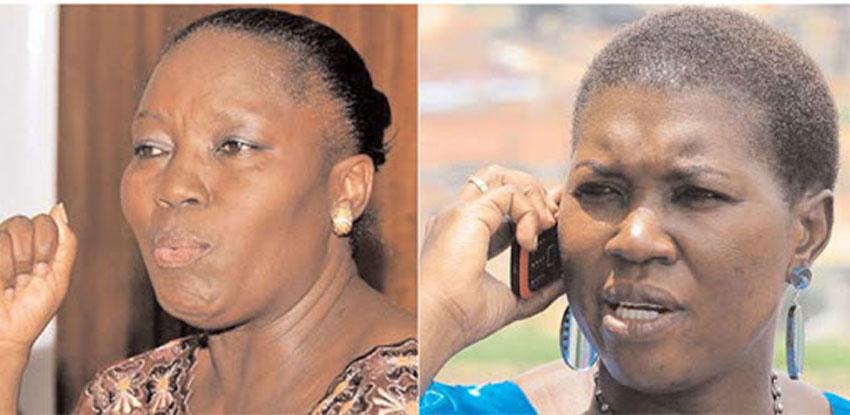 Speaker Rebecca Kadaga and FDC's Salaamu Musumba
