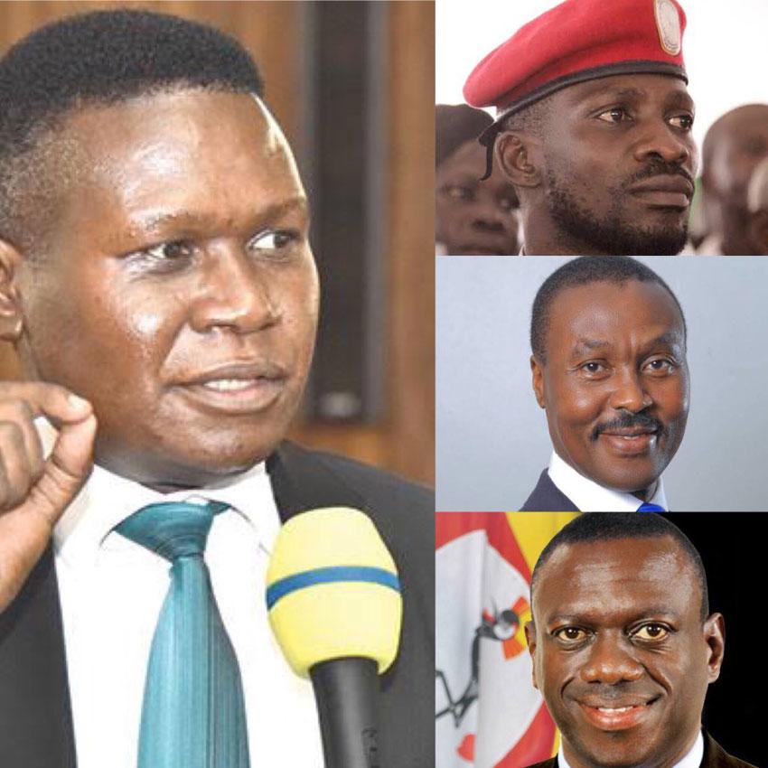 DP's Norbert Mao, NUP's Bobi Wine, ANT's Mugisha Muntu and FDC's Kizza Besigye