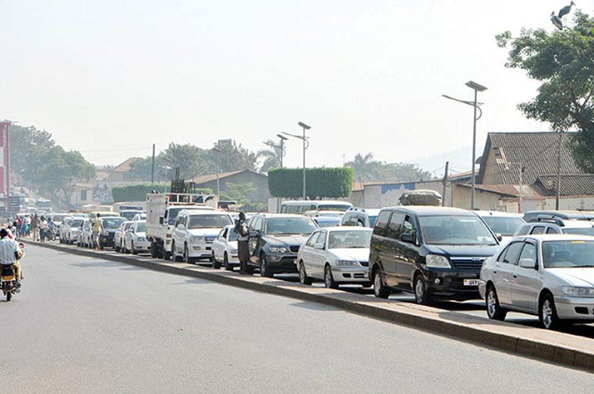 Traffic jam in Kampala