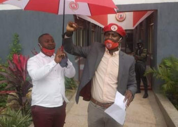 Andrew Mwenda after joining NUP party