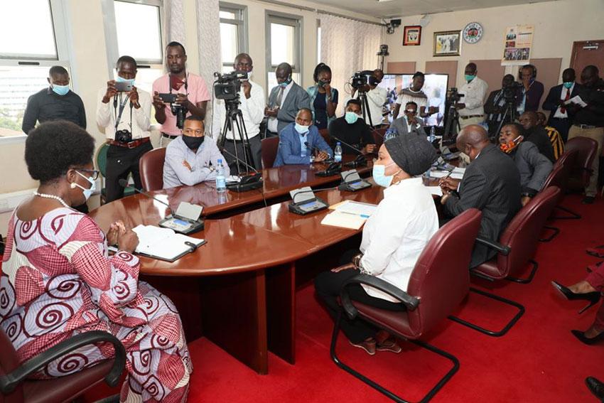 Artistes meeting Speaker Kadaga on Tuesday