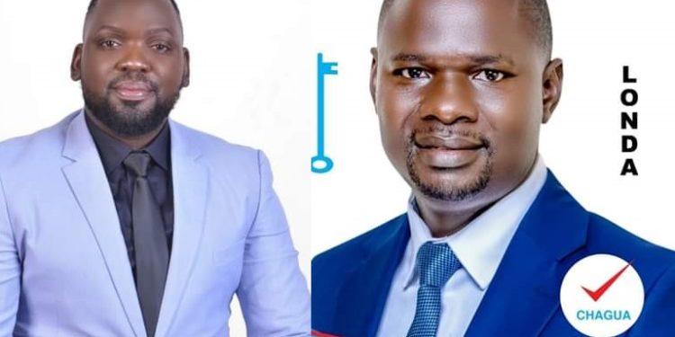 Timothy Batuwa (left) defeated Paul Kawanguzi (Right) in FDC party primaries