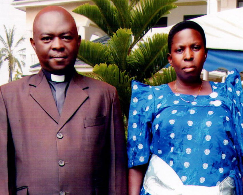 Rev. Canon Nason Baluku with his wife