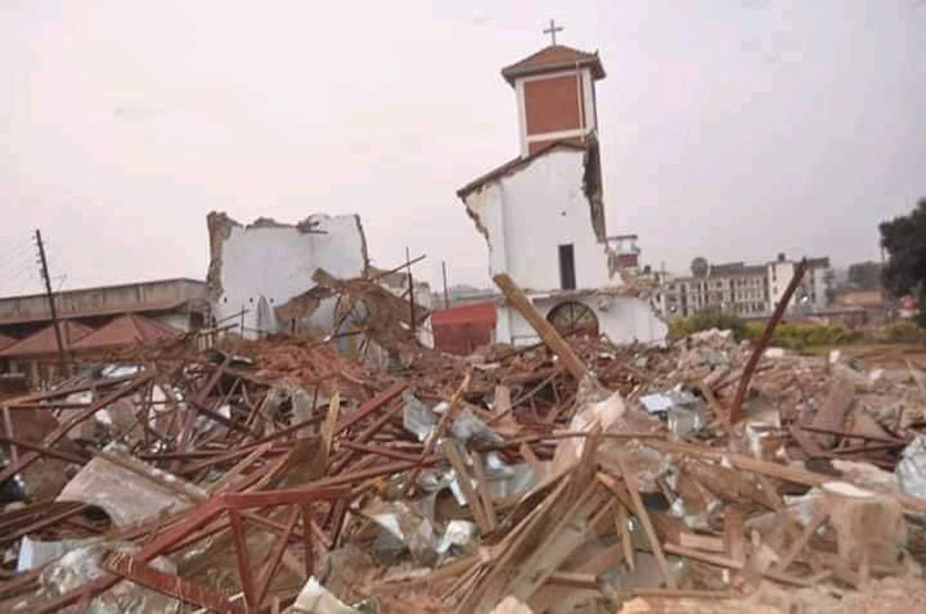 Demolished St Peter's Church Ndeeba