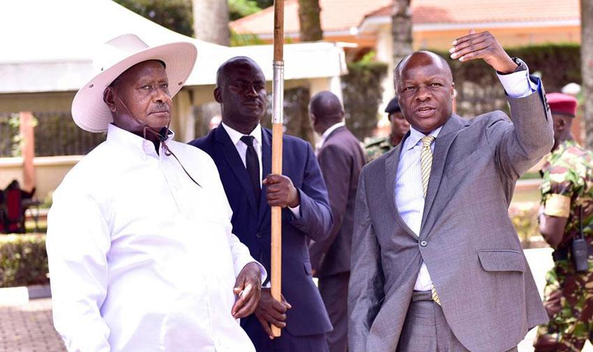 President Museveni with Kabaka Mutebi