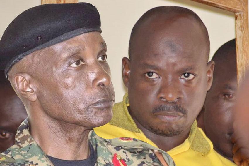 Former Police Chief Gen Kale Kayihura and Abdallah Kitatta