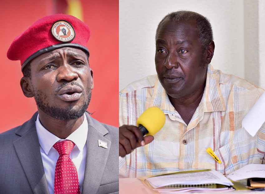 Bobi Wine and Al Hajj Moses Kigongo