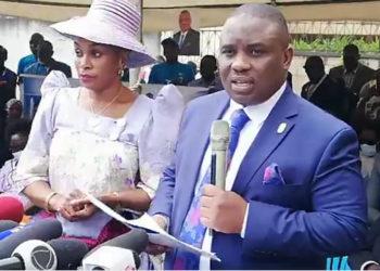 Lukwago ne mukyalawe lwe beegatta ku FDC mu butongole e Najjanankumbi gye buvuddeko