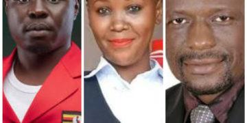 NUP's Francis Zaake, Shamim Malende and Chairman Nyanzi