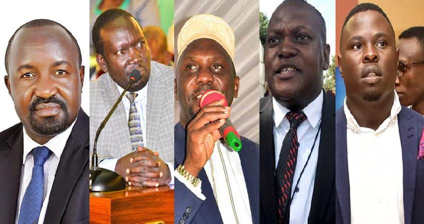 L-R: MPs Nsamba, Nambeshe, Ssebagala, Kalwanga and Zaake