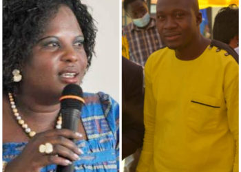 Minister Betty Amongi and Patrick Obura who lost to her in Oyam South Parliamentary race in 2016
