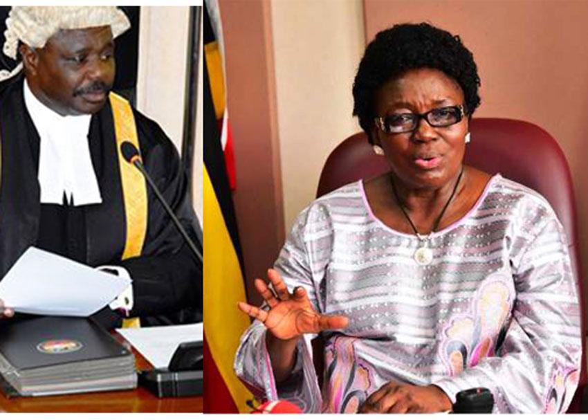 Jacob Oulanyah and Rebecca Kadaga