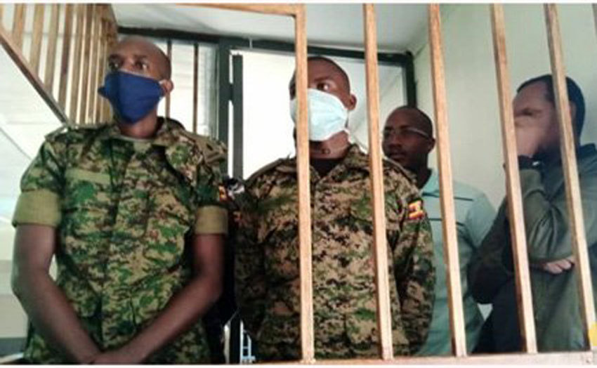 Suspects at Makindye Military Court