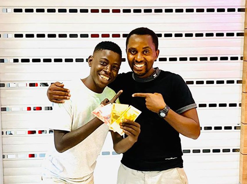 Young rapper Razor Blade with Fun Factory's Hannington Bugingo