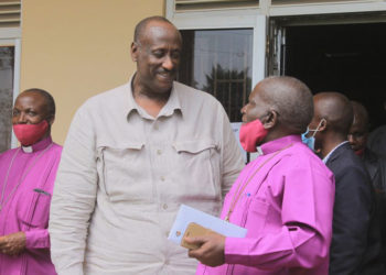 Gen Saleh after a meeting with House of Bishops on Wednesday