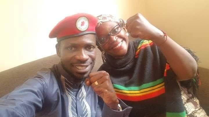 Bobi Wine and Stella Nyanzi