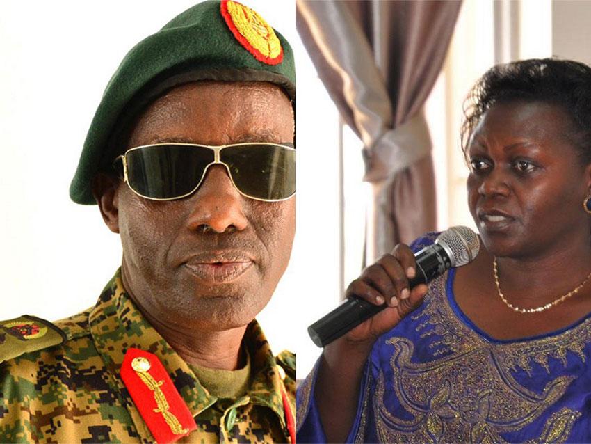 Gen Tumwine and Minister Opendi
