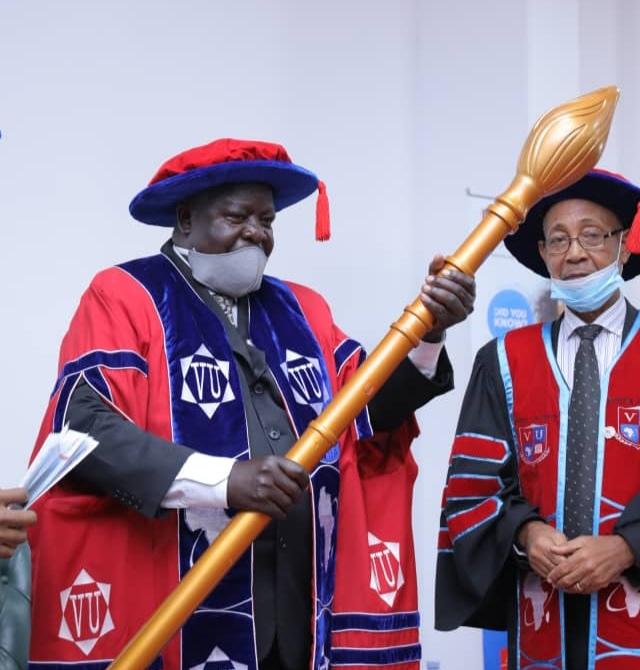 Prof John Opuda-Asibo installed as 3rd Chancellor of Victoria University