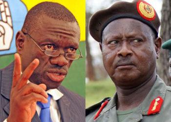 Dr Kizza Besigye and President Museveni