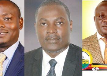 Minisita Ronald Kibuule ku kkono , Nsubuga Keneth Sebagayunga wakati ne Yahaya were ababadde bavuganya