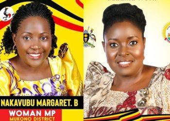 Margret Nakavubu Bakubi ku kkono ne Mary Margret Nalugo Sekiziyivu bwe bali ku mbilanyi