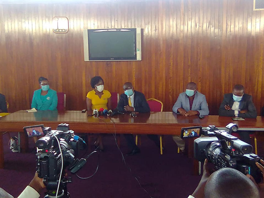 MPs who lost in NRM primaries addressing media on Wednesday