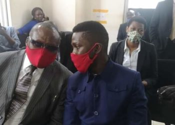 Moses Kibalama and Bobi Wine in Court on Friday
