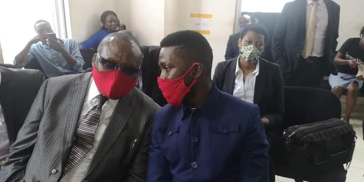 Moses Kibalama and Bobi Wine in Court recently