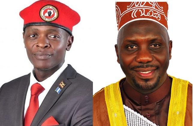 Yoseph Mayanja ku kkono ayagala okusuuza Latif Ssebaggala kaadi ya NUP mu Kampala