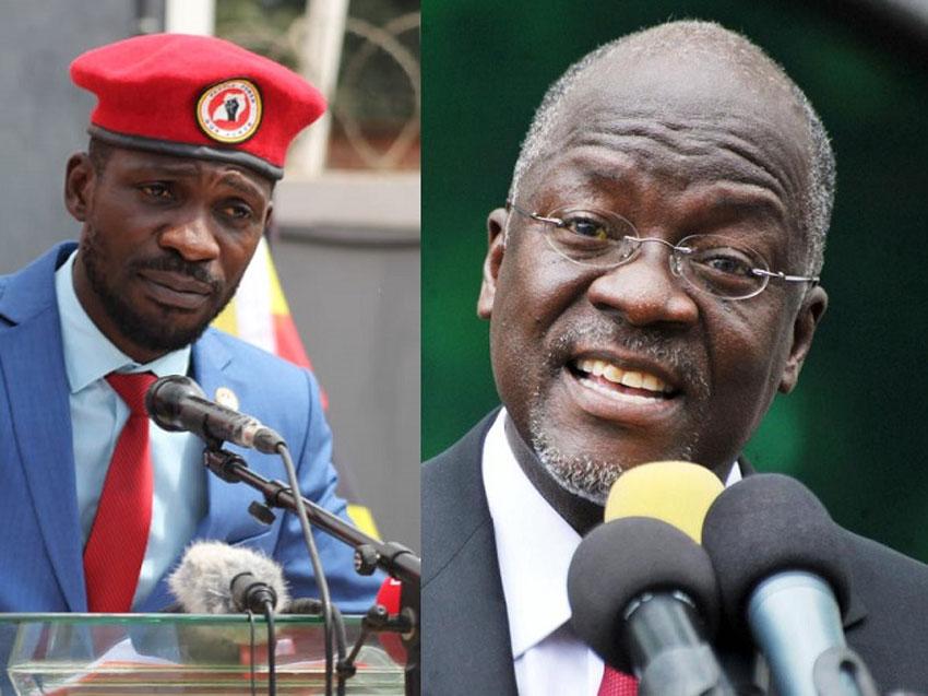 Bobi Wine and President Magufuli