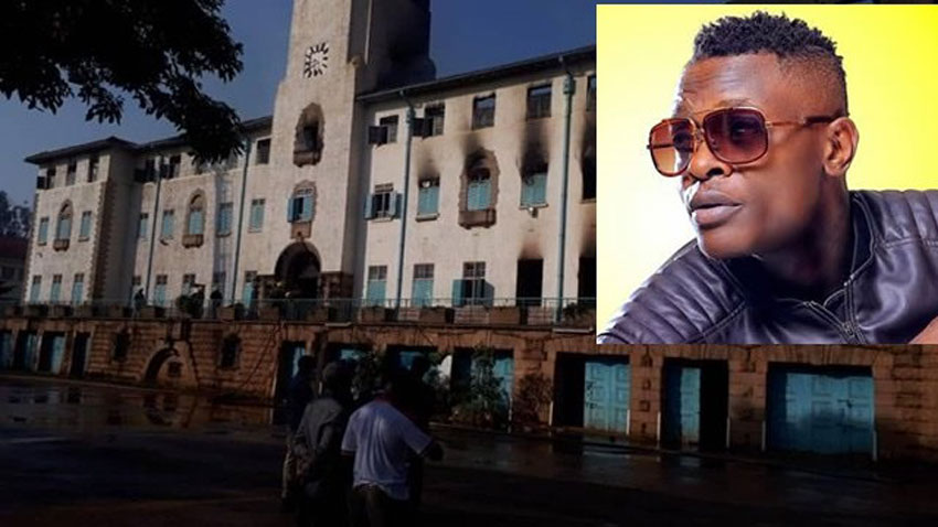 Makerere University Main Building gutted by fire in the wee hours of Sunday morning